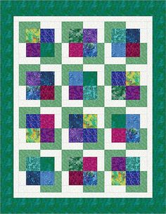 """This computer-illustrated L-Block quilt was completed on Electric Quilt software. I haven't made this arrangement into an actual quilt yet. This is an """"original"""" arrangement, meaning I came up with it without seeing anyone else's similar design, but it is so simple that I'm sure hundreds of others have come up with a similar design. Feel free to copy this one, just don't sell the pattern.  Here are some other L-block arrangements (some actual quilt tops, others just computer illustrations)…"""