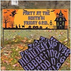 Halloween Personalized Lawn Banner 63in. X15in.