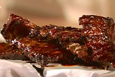 Hot Honeyed Spare Ribs from FoodNetwork.com. My favorite crock pot ribs!