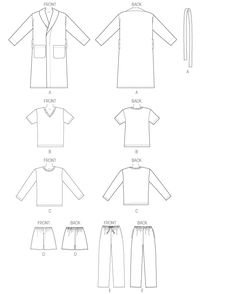 26 best sewing family sleep house clothes images dress Swim Dress Size 12 k4088 men s robe belt t shirts shorts and pants sewing pattern kwik sew patterns