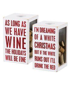 Look what I found on #zulily! Doublesided Wine Cork & Cap Holder #zulilyfinds