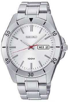 Seiko 3-Hand with Day/Date Stainless Steel Men's Watch $95.75 http://amzn.com/B00BDAHMH0 #SeikoWatch