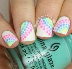 The Nail Polish Challenge: Inspired Neon Rainbow Dotticure