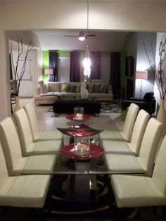 Contemporary Dining Room  designed by Serena Monjeau Walkes featured on Rate My Space