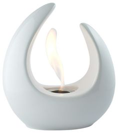 Mika White Tabletop Ventless Ethanol Fireplace modern-tabletop-fireplaces