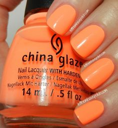 #31DC2013 Day 2 Orange Nails with @China Glaze Sun of a Peach