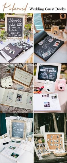 Ideas wedding guest book ideas polaroid receptions for 2019 Wedding Reception Signs, Wedding Book, Wedding Themes, Diy Wedding, Trendy Wedding, Wedding Ideas, Dress Wedding, Polaroid Wedding Guest Book, Diy Guest Books Wedding