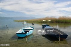 Stock-Foto : MACEDONIA-Struga: Rental boats on Lake Ohrid