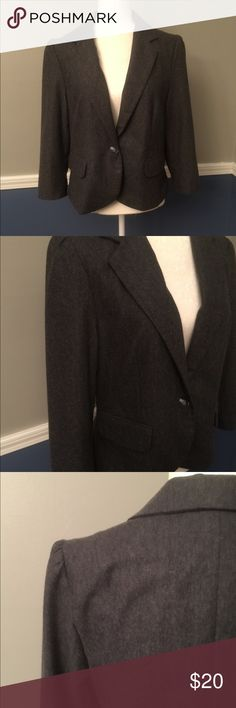 Grey 1 button blazer Great traditional one button blazer. Fantastic condition. Perfect for work! Jackets & Coats Blazers