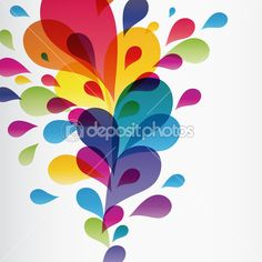 Download - Colorful background with drops — Stock Illustration #3230603