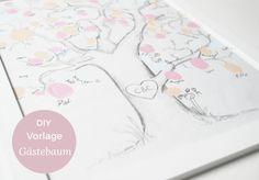 Eine kostenlose Vorlage für den Gästebaum / Fingerabdruckbaum zur Hochzeit zum herunterladen. Eine Anleitung findet ihr auf dem Blog. Eine tolle Erinnerung für das Hochzeitspaar.