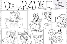 Dibujos para el día del padre. Divertida colección de dibujos para el día del padre, fichas imprimibles para colorear, que podéis hacer servir para hacer vuestras propias felicitaciones personalizadas para regalar a papá en su día más especial. Dibujo de…mi...