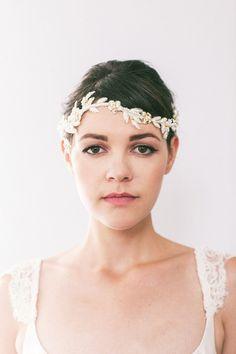 Crystal Lace Vine Wedding Headpiece