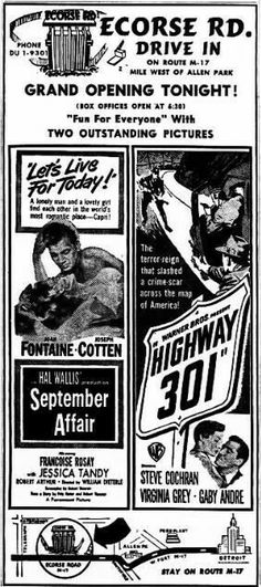 Drive In Movie Theater, Theatres, Vintage Movies, Grand Opening, Looking Back, Newspaper, Scene, Ads, Let It Be