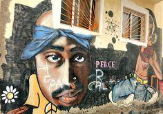 Street Art, Graffiti: Gran Canaria Tupac mural