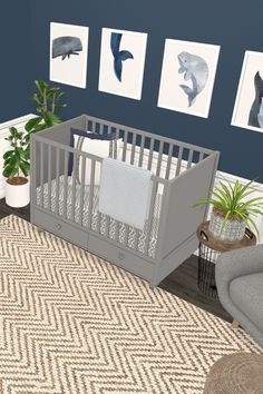 Design your nursery in Collaborate with friends, family and the community. Nautical Baby Nursery, Ocean Themed Nursery, Nursery Neutral, Nursery Themes, Coastal Nursery, Nursery Ideas, Baby Boy Nurseries, Baby Cribs, Cool Kids Rooms