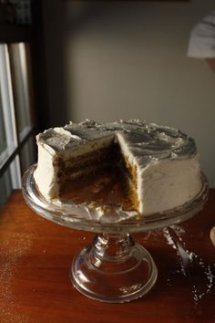 Spiced Pumpkin Cake   Recipe - Saveur.com--need to read notes in reviews to make adjustments