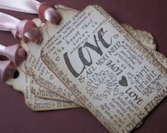 Valentine Wish tree tags/wedding tags/gift tags by anistadesigns