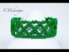 Celtic inspired macrame bracelet | St. Patrick's Day - YouTube