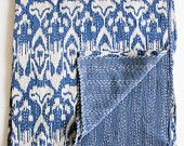 Ikat Bed Cover in Blue Twin Size