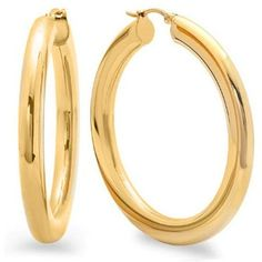 AmazonSmile: 2 Inches Wide Stainless Steel Yellow Hoop Earrings For... (€17) ❤ liked on Polyvore featuring jewelry, earrings, yellow jewelry, yellow earrings, hoop earrings, stainless steel hoop earrings and earring jewelry