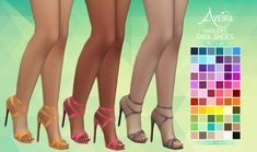 Aveira's Sims 4, Madlen's Onix Shoes - Recolor 66 Colors ...