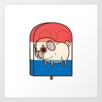 Puglie Pug | Society6