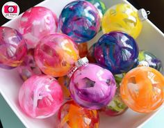 Melted Christmas Ornaments
