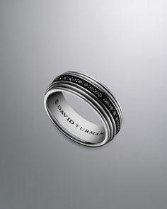 royal cord ring pave black diamonds by david yurman at neiman marcus - David Yurman Mens Wedding Rings