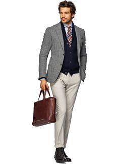 Jacket Grey Plain Havana C710i | Suitsupply Online Store