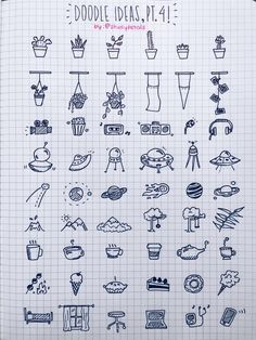 36 Simple Doodles You Can Easily Copy in Your Bullet Journal - Simple Life of a Lady Bullet journal designs seem too complicated for you? Worry not. These doodles are very easy to draw. You'll have a nice and chic design in no time! 100 Days Of Productivity, Bujo Doodles, Notebook Doodles, Note Doodles, Space Doodles, Easy Doodles, Sketch Notes, Doodle Drawings, Doodle Doodle