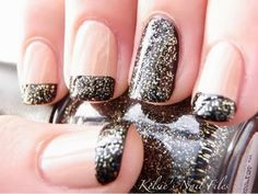 Holiday nails 2013... Brown with silver flakes. Perfection for fall    {Mani Monday} | A Fancy Affair