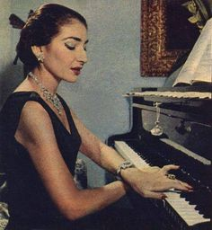EVGENIA GL Maria Callas playing the piano- On top of being one of the greatest sopranos in history, Callas was also a talented pianist. Maria Callas, Rock And Roll, Russian Wedding, Opera Singers, Music Icon, Famous Women, Classical Music, Role Models, Portraits