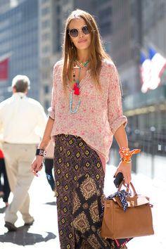 So relaxed and pretty… Love It! NYC Style: Fashion Week from the Street  - HarpersBAZAAR.com