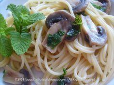 Spaghetti con funghi e menta - Spaghete cu ciuperci si menta