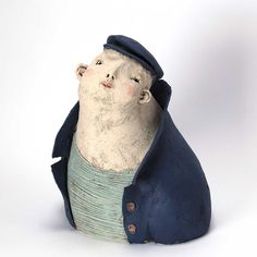 blue - man - sculpture - Anne-Sophie Gilloen