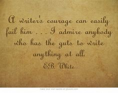 E.B. White, when accepting the National Medal for Literature.  http://www.wattpad.com/270528-how-to-write-a-novel-in-100-days-or-less