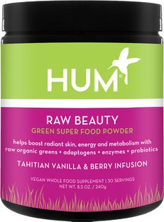 If you want an energy and radiant skin boost: Raw Beauty ● In total, 39 ingredients praised for their skin-clearing and adaptogenic powers (like matcha and ginseng root) make up one heady beauty beverage. Supplements For Anxiety, Anti Aging Supplements, Natural Supplements, All Natural Skin Care, Organic Skin Care, Beauty Vitamins, Green Superfood, Best Skincare Products, Beauty Products