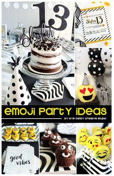 Emoji Birthday Party IDEAS @eyecandycreate #emojiparty #emojibirthday #teenbirthday