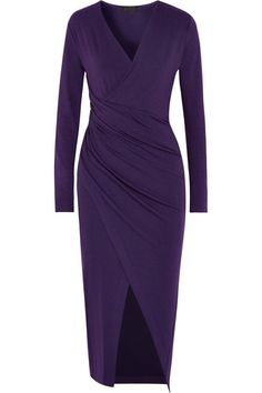 Donna Karan New York   Wrap-effect jersey dress   NET-A-PORTER.COM