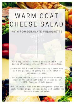 Warm Goat Cheese Salad with Pomegranate Vinaigrette