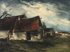 Maurice de Vlaminck (French, 1876-1958), Paysage. Oil on canvas, 89.5 x 116.2 cm.