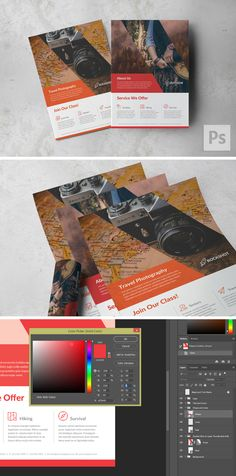 Best seller item, now available in PSD format. Easy to edit color through Color Picker layer. Vector Smart Object. Compatible with Adobe Photoshop CS4 or higher. #a4 #ad #adventure #brochure #elegant #flyer #letter #modern #outdoor #pamphlet #photography #photoshop #psd #print #template #usletter #venture