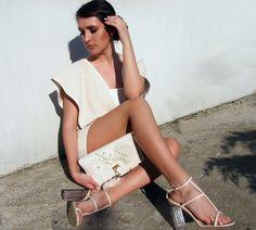 Handmade outfit www.corazonfashion.eu #couturebag #bag #dress #heels #streetstyle #streetwear #nude #fashion