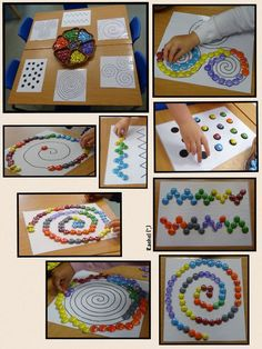 "Espirals i altres patrons (imprimibles gratuït) de Rachel ("",) ""FIne Motor Activity: Spirals and other Patterns (free printable; from Stimulating Learning Motor Skills Activities, Montessori Activities, Gross Motor Skills, Learning Activities, Preschool Activities, Kids Learning, Visual Perceptual Activities, Montessori Materials, Finger Gym"