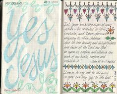 visual blessings: X-Y-Z Moleskine Journal Pages