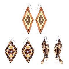 Liquidation Channel | Set of 3 Wooden Earrings in Stainless Steel