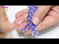Beaded Cuff Bracelet, Beaded Jewelry, Cuff Bracelets, Seed Bead Tutorials, Beading Tutorials, Beading Patterns Free, Crochet Patterns, Bracelet Making, Jewelry Making
