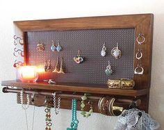 Estante de la joyería estante de madera por andrewsreclaimed