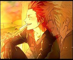 Axel and Roxas. Fan art. Kingdom Hearts 358/2 Days.